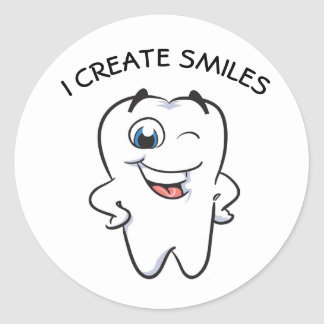 I creates SMILES to you! Classic Round Sticker