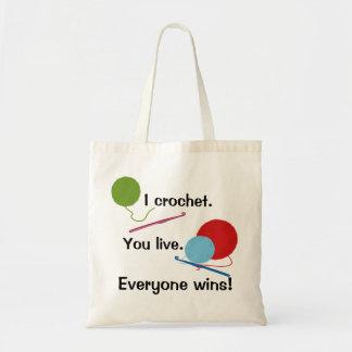 I Crochet You Live Bag