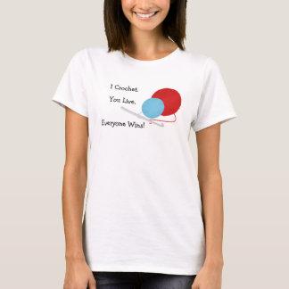 I Crochet You Live Funny Crochet Design T-Shirt