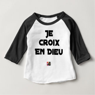 I CROSS AS a GOD - Word games - François City Baby T-Shirt