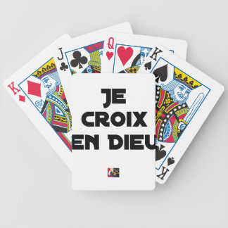 I CROSS AS a GOD - Word games - François City Bicycle Playing Cards