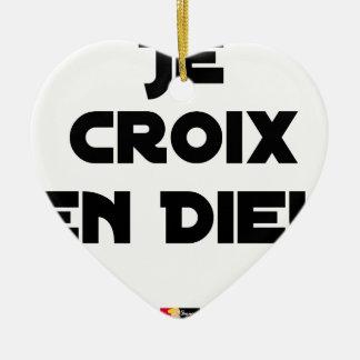 I CROSS AS a GOD - Word games - François City Ceramic Ornament