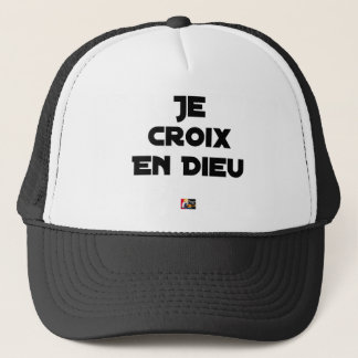 I CROSS AS a GOD - Word games - François City Trucker Hat