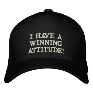 I CUT WITH WINNING CAPE ATTITUDE EMBROIDERED HAT