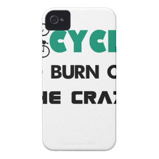 I cycle to burn off the crazy, bicycle Case-Mate iPhone 4 cases