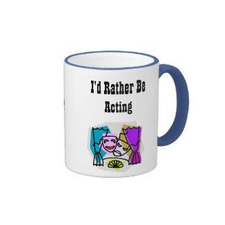 I d Rather Be Acting w KBP on back Mug