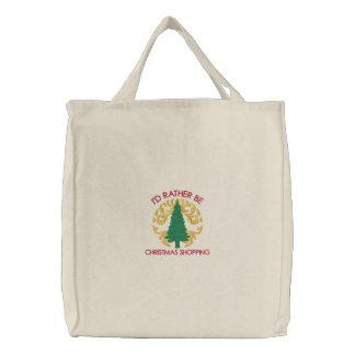 I d Rather be Christmas Shopping Bag