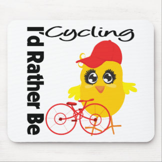 I d Rather Be Cycling Mousepads