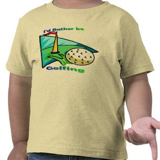 I d Rather Be Golfing Tshirt