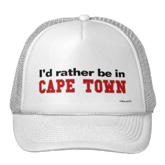 I d Rather Be In Cape Town Mesh Hats