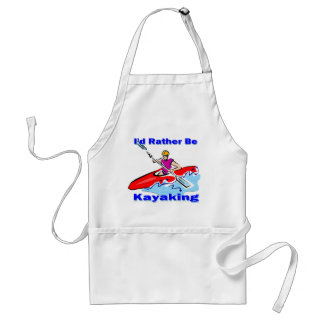 I d Rather Be Kayaking 1 Apron
