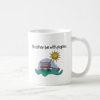 I d Rather be with Papou Coffee Mug