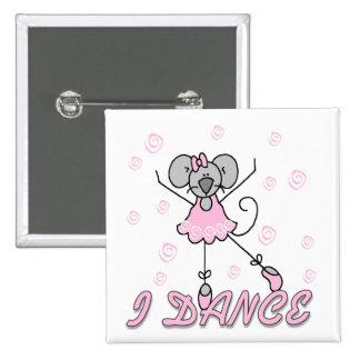 I Dance Mouse Ballet Button
