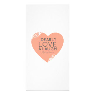 I Dearly Love A Laugh - Jane Austen Quote Photo Card