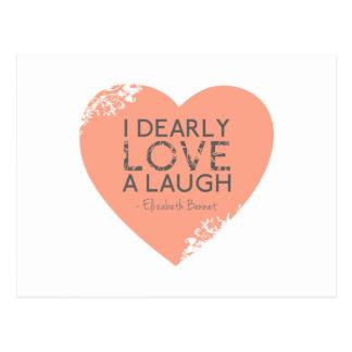 I Dearly Love A Laugh - Jane Austen Quote Postcard