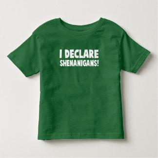 I declare shenanigans toddler T-Shirt
