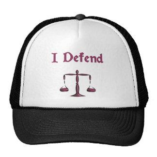 I Defend Lawyer Hat