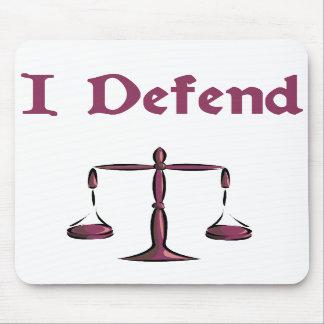 I Defend Lawyer Mousepad