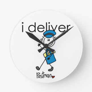 I Deliver Mail Carrier Wall Clock