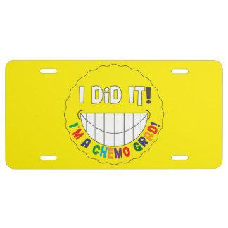 I Did It!  I am a Chemo Grad License Plate