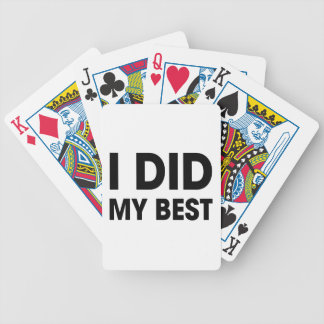 I Did My Best Bicycle Playing Cards