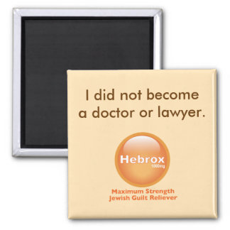 I did not become a doctor or lawyer square magnet