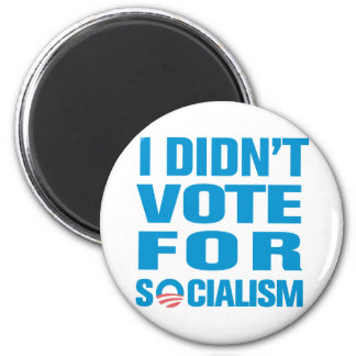 I Didn't Vote For Socialism Magnet