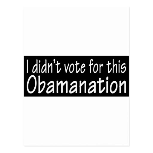 I didn't vote for this Obamanation! Post Cards