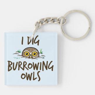 I Dig Burrowing Owls Key Ring