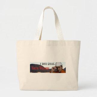 I Dig Coal Jumbo Tote Bag