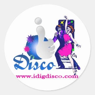 I Dig Disco Disco Lights Stickers