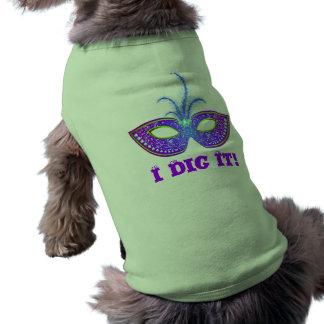 I Dig It! Mask Dog T Sleeveless Dog Shirt
