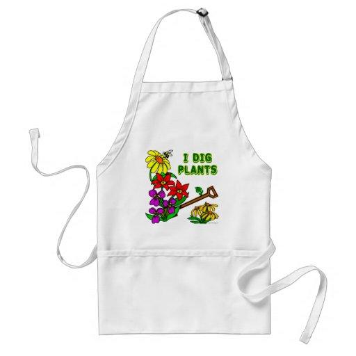 I Dig Plants Flower Gardener Saying Apron