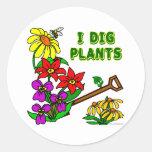 I Dig Plants Gardener Saying Stickers