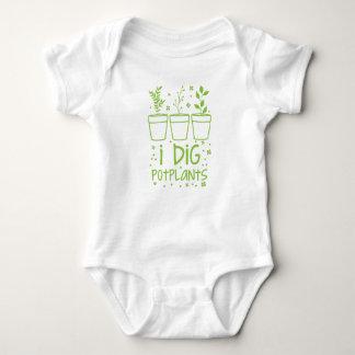 i dig potplants baby bodysuit