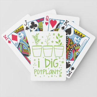 i dig potplants bicycle playing cards