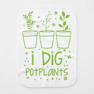 i dig potplants burp cloth