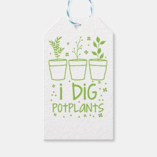 i dig potplants gift tags