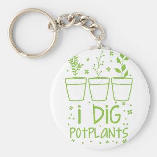 i dig potplants key ring