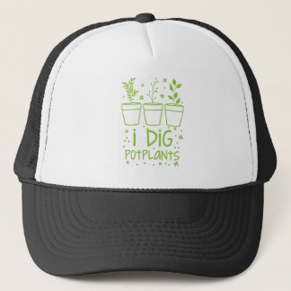 i dig potplants trucker hat