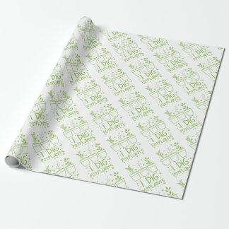 i dig potplants wrapping paper