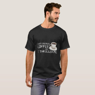 """I Discovered Coffee"" Men's Dark Shirt"
