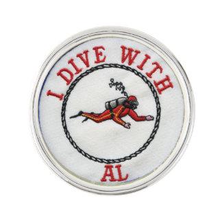 I Dive With AL Lapel Pin