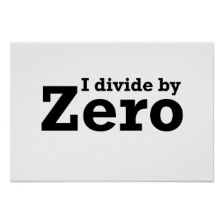 I Divide by Zero Poster