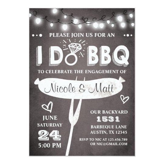 I Do BBQ Engagement Party Invitation Rehearsal