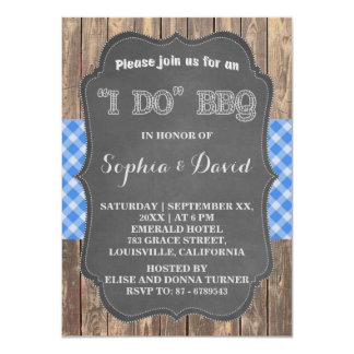 I DO BBQ Rustic Engagement Party Invitation