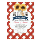 I Do BBQ Sunflower Mason Jar Couples Shower Card