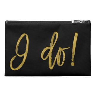 I Do! Bride Bachelorette Party Survival Kit Travel Accessory Bag