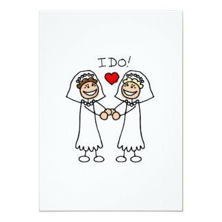 I Do Brides 13 Cm X 18 Cm Invitation Card