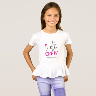 I do Crew Hot Pink Bridal Shirt for Flower Girl